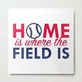 Home Is Where The Field Is Metal Print
