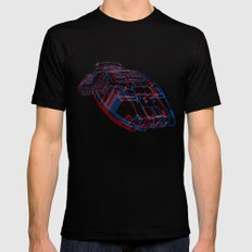 Classic Galactica 3D Mens Fitted Tee Black LARGE