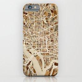Washington DC Street Map iPhone Case