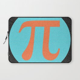 First 10,000 digits of Pi, blue and orange. Laptop Sleeve
