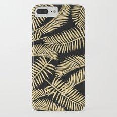 Palm Leaf Pattern Gold And Black iPhone 7 Plus Slim Case