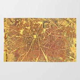 Vintage Map of Madrid Spain (1656) Rug