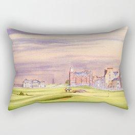 St Andrews Golf Course Scotland 17th Green Rectangular Pillow