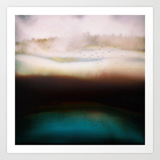 Winters Dusk Art Print