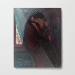 The Kiss - Edvard Munch Metal Print