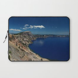 Crater Lake View with Caldera Rim Laptop Sleeve