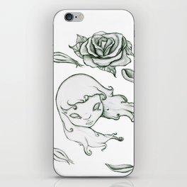 Rose in the wind iPhone Skin