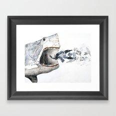 Shark vs. Misc. Framed Art Print