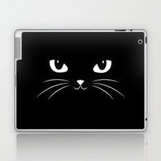 Cute Black Cat Laptop & iPad Skin