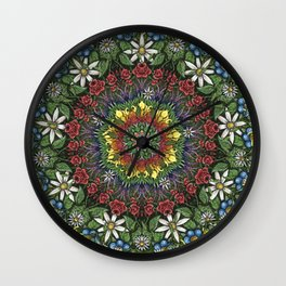 Garden Burst Wall Clock