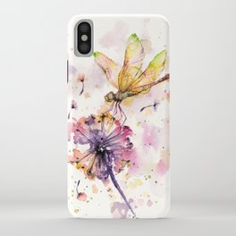 Dragonfly & Dandelion Dance iPhone Case