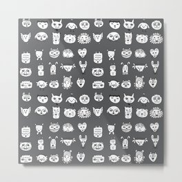 Different Animals Metal Print