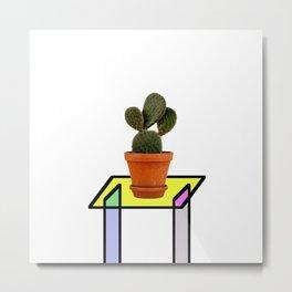 Abstract Reality - Cactus On A Table Metal Print