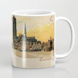 Mechelen lace making litho ca 1900 Coffee Mug