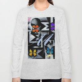 Monarch Butterfly Modern Abstract Painting Rainbow Art Long Sleeve T-shirt