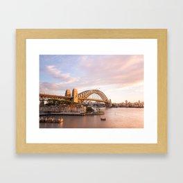 Sydney Harbour Bridge Sunrise Framed Art Print