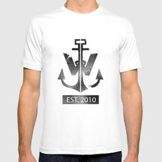 ANCHOR White MEDIUM Mens Fitted Tee
