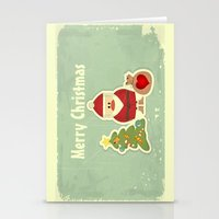 merry christmas Stationery Cards featuring Merry Christmas by Cs025