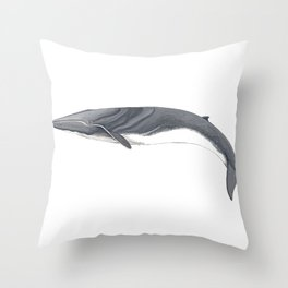 Fin whale Throw Pillow