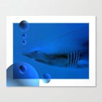 shark Canvas Prints featuring Shark by Laake-Photos
