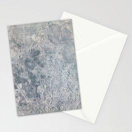 Vintage Lunar Moon Map, 1960s Stationery Cards
