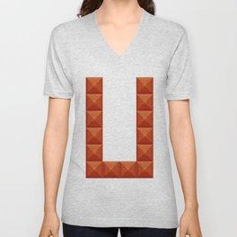 "Letter ""U"" print in beautiful design Fashion Modern Style Unisex V-Neck"