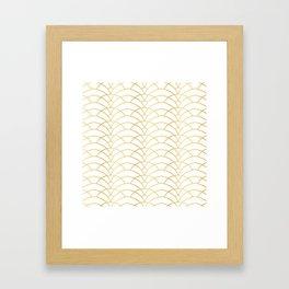 Art Deco Series - Gold & White Framed Art Print