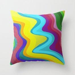 Metallic Curves Throw Pillow