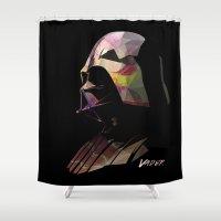 vader Shower Curtains featuring Vader by Cesar Carlevarino