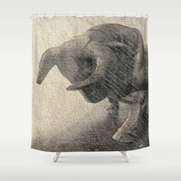 taurus Shower Curtains featuring Taurus by Jerry Watkins