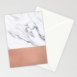 Marble Rose Gold Luxury iPhone Case and Throw Pillow Design Stationery Cards