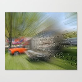 Zooming drops Canvas Print