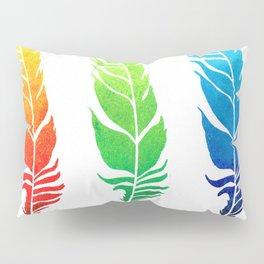 Rainbow Feathers Pillow Sham