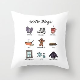 Winter Things Throw Pillow