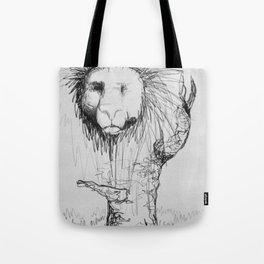 Lion Tree Tote Bag