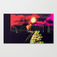 lost in translation Canvas Prints featuring Lost in Translation  by Omnii