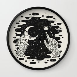 Look to the Skies Wall Clock