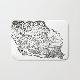 Eyes of the Lady Ink Doodle Bath Mat