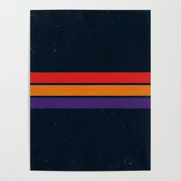 DARK VINTAGE RETRO STRIPES Poster