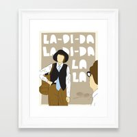 annie hall Framed Art Prints featuring La-Di-Da - Annie Hall by Mike Oncley