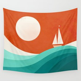 Wave (night) Wall Tapestry