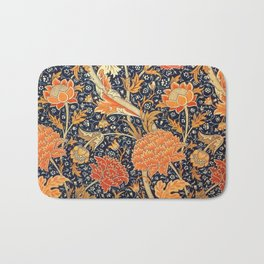 William Morris Cray Floral Art Nouveau Pattern Bath Mat
