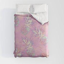 Pink Pineapple Pattern Comforters