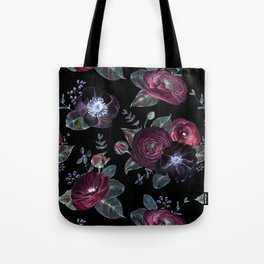 Fantasy Night Rose Red Tote Bag