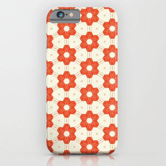 Retro Red Flower iPhone & iPod Case