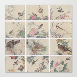 Chinese painting Birds Flowers Canvas Print