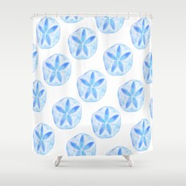 Mermaid Currency - Blue Sand Dollar Shower Curtain