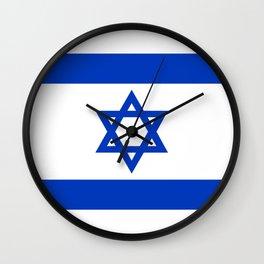Israeli Flag of Israel Wall Clock