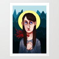 abigail larson Art Prints featuring Abigail Hobbs by nucleir
