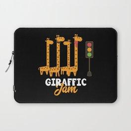 Giraffe Cartoon Funny Animals Gift Laptop Sleeve